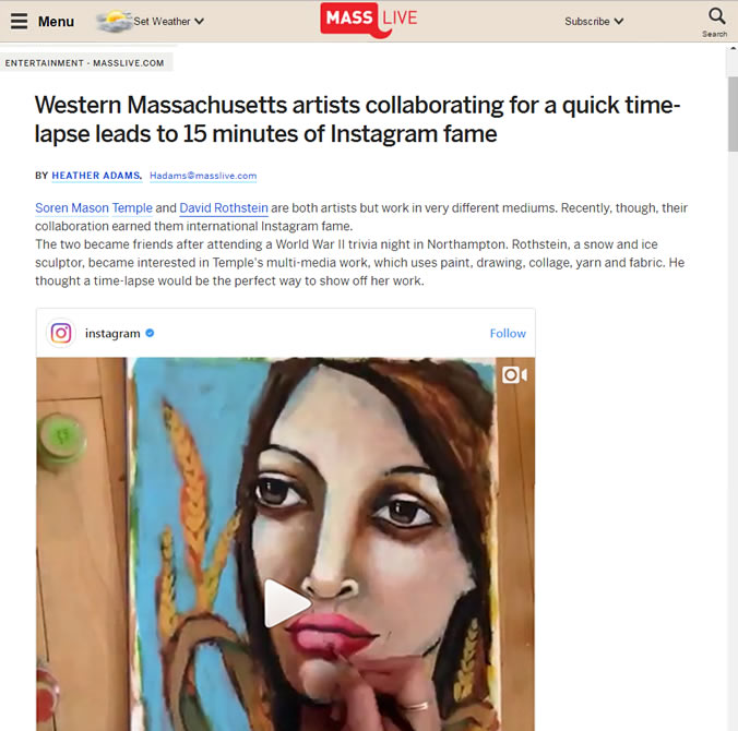 Western Massachusetts Artists Time-lapse Leads To Instagram Fame