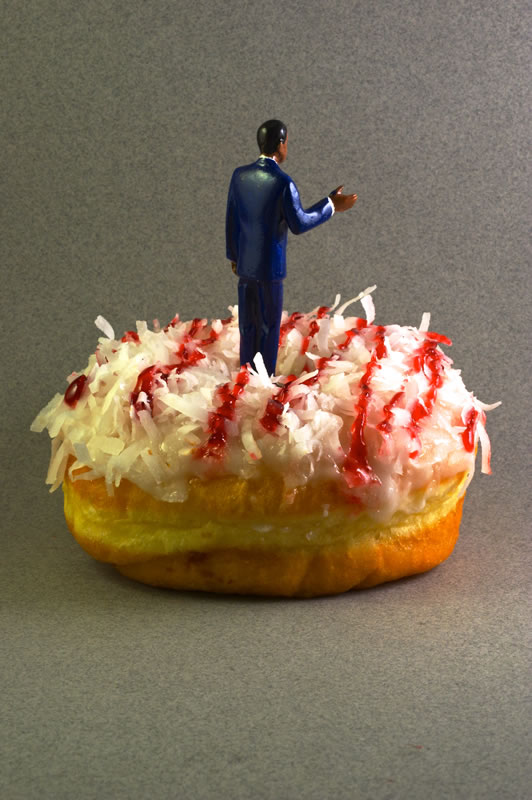 President Barack Obama on a Coconut Frosted