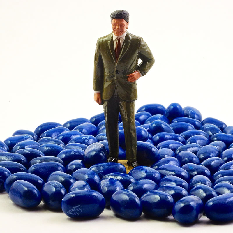 Ronald Regan and Blueberry Jelly Belly Beans
