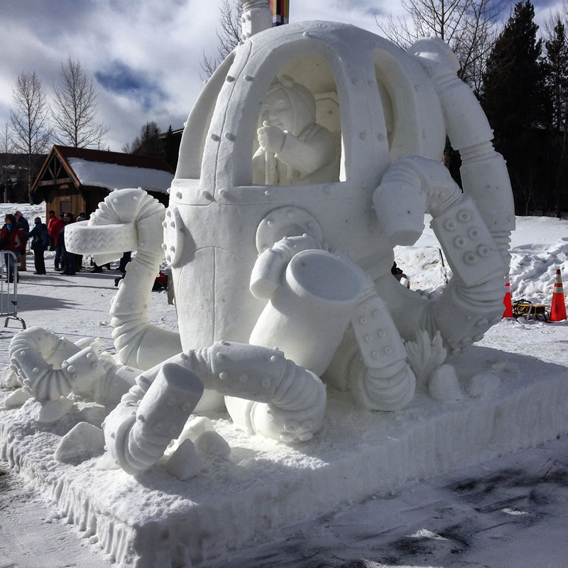 16' tall, Team Vermont/USA, Budweiser Int'l Snow Sculpting Competition 2016, Breckenridge, CO, First Place