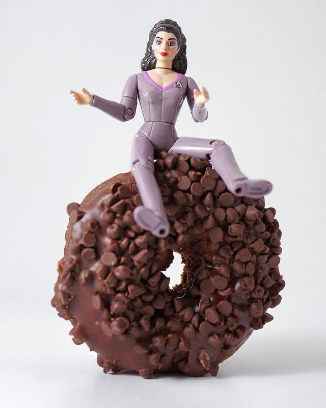 Triple Chocolate and Deanna Troi
