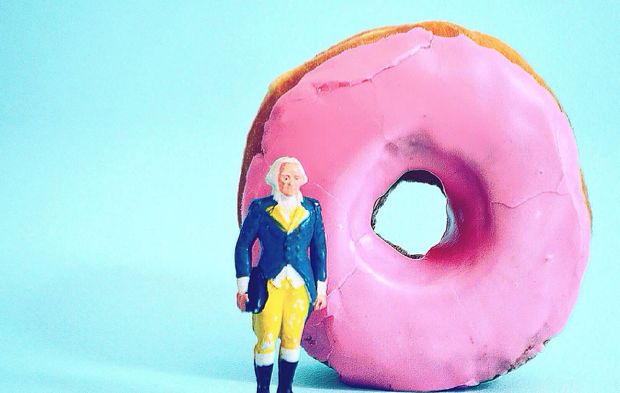 George Washington and a Cherry Glazed